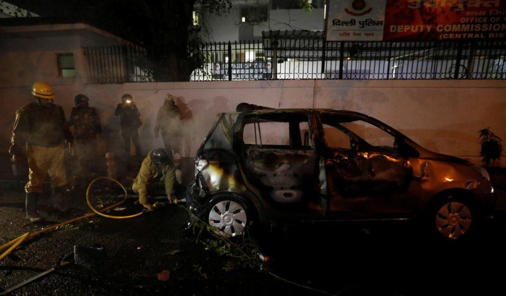 Delhi Burnt Car